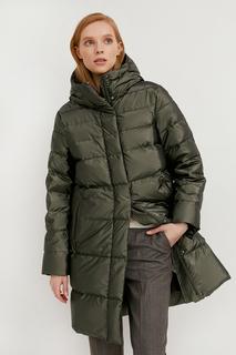 Пуховик-пальто женский Finn Flare W20-32002 зеленый L