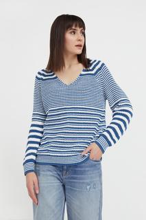 Пуловер женский Finn Flare B21-11151 синий 2XL