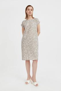 Повседневное платье женское Finn Flare S21-14086 коричневое XL