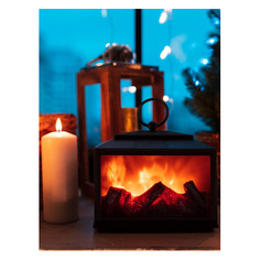 Светильник Neon-Night Home Сканди фор.:камин 2лам. ПВХ/медь (511-033)