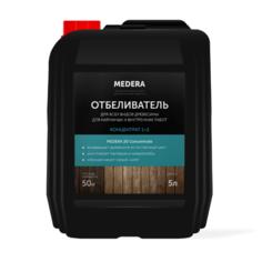 Отбеливатель Medera для древесины, для наружных и внутренних работ, концентрат 1/2 5 л