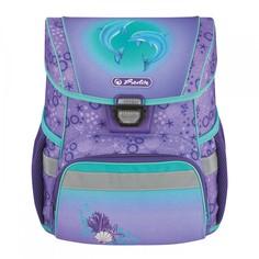 Ранец школьный Herlitz Loop Dolphins, Дельфин, фиолетовый