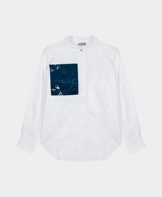Рубашка с карманами Gulliver белая 12111BJC2302 р.146
