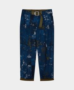 Брюки Gulliver темно-синие с принтом 12111BJC6309 р.152