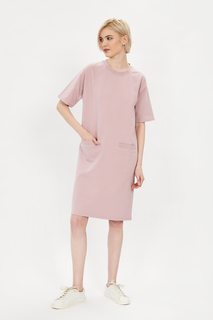 Платье-толстовка женское Baon B451038 розовое M