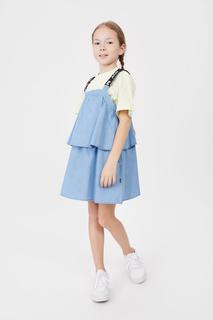 Сарафан для девочки Baon BK461001 цв. голубой р.128