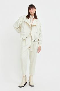 Куртка женская Finn Flare S21-32025 бежевая 2XL