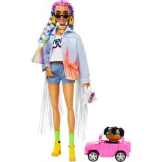 Кукла Barbie Экстра, с радужными косичками GRN29