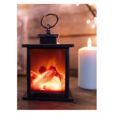 Светильник Neon-Night Home Кантри фор.:камин 2лам. ПВХ/медь (511-031)