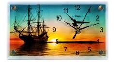 """Часы настольные """"Корабль на закате"""", 22х13х2,5 см Arte Nuevo"""