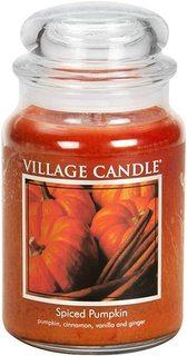 """Ароматическая свеча Village Candle """"Spiced Pumpkin"""", большая/4260017"""