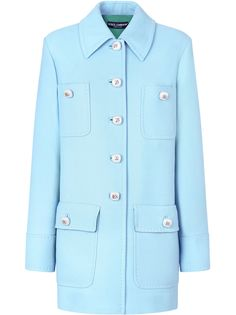 Dolce & Gabbana однобортное пальто миди