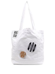 Raf Simons сумка-тоут с декоративными значками