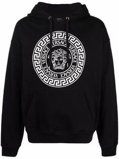 Versace худи свободного кроя с логотипом Medusa