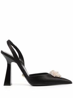 Versace туфли La Medusa с ремешком на пятке