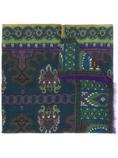 Etro кашемировый платок с принтом