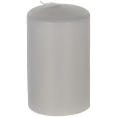 Декоративная свеча Wenzel Velours серебряная 6х10 см