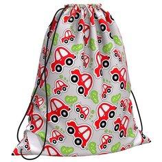 ErichKrause Мешок для обуви Baby Cars (48252) серый/красный/зеленый
