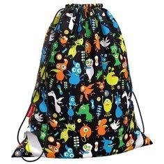 ErichKrause Мешок для обуви Funny Monsters (48249) черный/синий/оранжевый