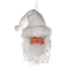 Елочное украшение ГОЛОВА САНТЫ в белой шапке, 19Х32 см, BILLIET 567028