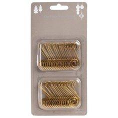 Крючки для елочных украшений, золотые, 4.5 см, набор 40 шт., Koopman International AWR000050
