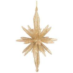 Украшение елочное Lefard Звезда 3D 8,5х8,5 см, высота 13 см, цвет золото (865-464)