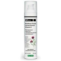 Матирующая эмульсия для жирной кожи с экстрактом левзеи и витамином Е BTpeel, 50 мл
