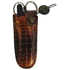 Маникюрный набор, ZINGER, Z-1, 2 пр., коричневый чехол (глянец)