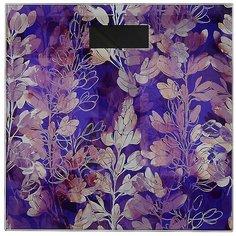 Фиолетовые весы напольные электроные, ЖК-дисплей, максимальная нагрузка до 180кг, 28x28x0,5см, VS-041, GC Design Простые решения