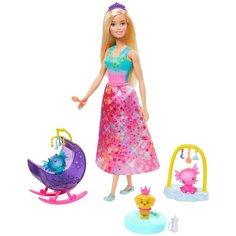 Кукла Barbie Dreamtopia Заботливая принцесса Питомник драконов, GJK51
