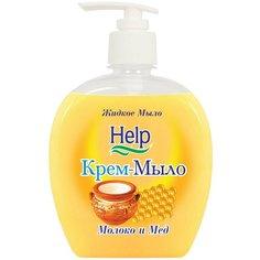 Крем-мыло Help Молоко и мед, 300 мл