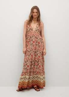 Струящееся платье с принтом - Saffron Mango
