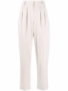 Brunello Cucinelli зауженные брюки со складками