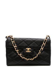 Chanel Pre-Owned стеганая сумка на плечо 2000-х годов с откидным клапаном