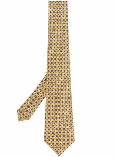 Etro галстук с геометричным принтом