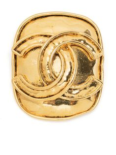 Chanel Pre-Owned брошь 1994-го года с логотипом CC