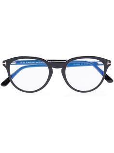 TOM FORD Eyewear очки Blue Block в круглой оправе