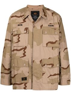 Alpha Industries camouflage-print cargo jacket