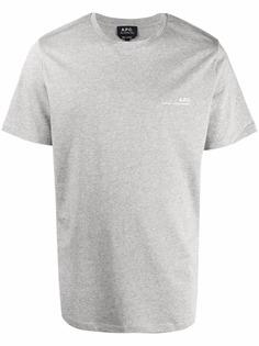 A.P.C. logo detail T-shirt