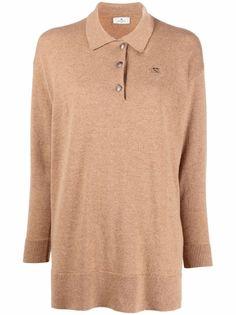 Etro рубашка поло с вышитым логотипом