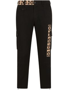 Dolce & Gabbana узкие брюки с контрастными вставками