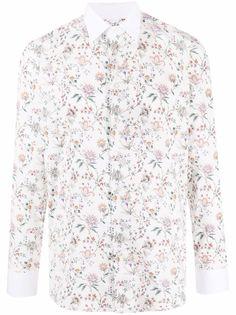 Etro рубашка с длинными рукавами и цветочным принтом