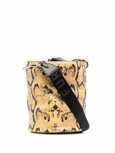 Furla сумка-ведро Lipari со змеиным принтом