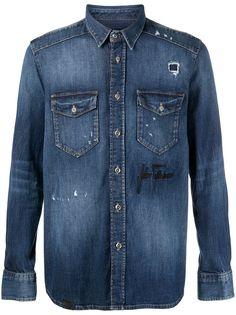 John Richmond джинсовая рубашка Tenrose
