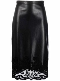 Ermanno Scervino юбка-карандаш с кружевом