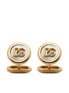 Dolce & Gabbana запонки с логотипом DG