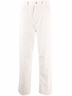 Jil Sander вельветовые брюки прямого кроя