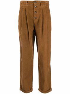Dondup укороченные вельветовые брюки с завышенной талией
