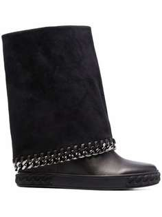 Casadei wide-leg leather boots