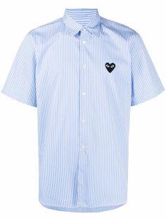Comme Des Garçons Play полосатая рубашка с нашивкой-логотипом